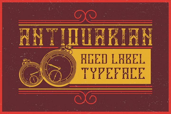 Antiquarian label typeface