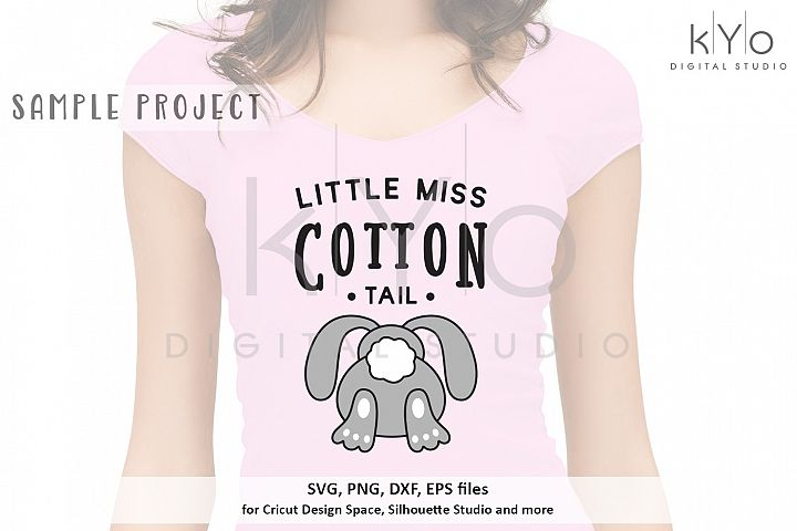 Little Miss Cotton Tail easter SVG DXF PNG EPS files