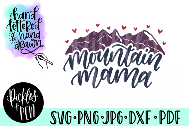 mountain mama svg - mom cut file
