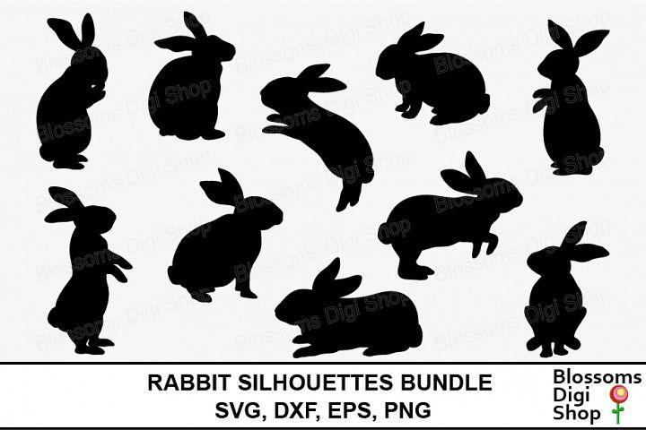 Rabbit Silhouettes Bundle