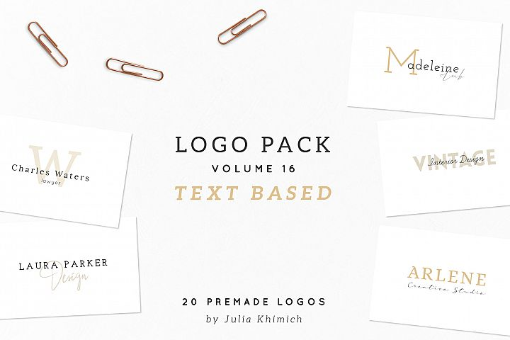 Logo Pack Volume 16. Text Based