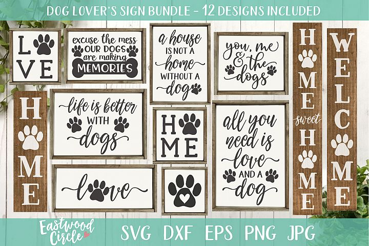 Dog SVG Bundle - Cut Files for Signs