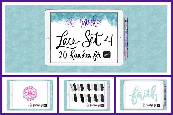 FC-Lace Brush Set 4 for PROCREATE