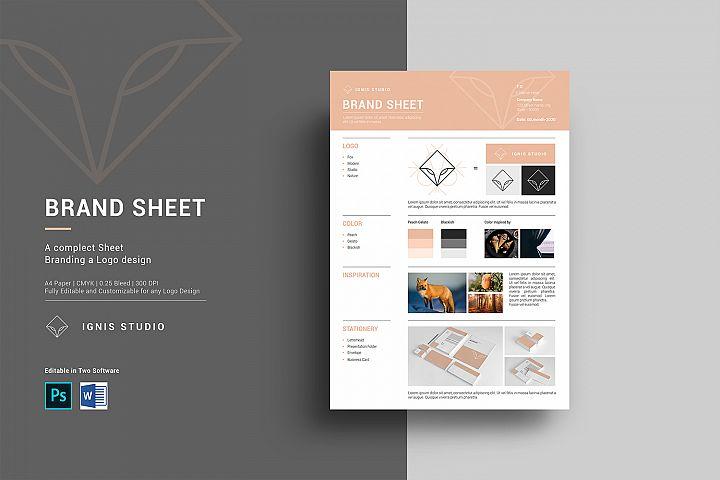 Brand Sheet Design