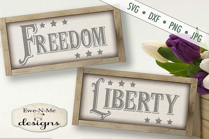 Freedom Liberty Patriotic SVG DXF Files