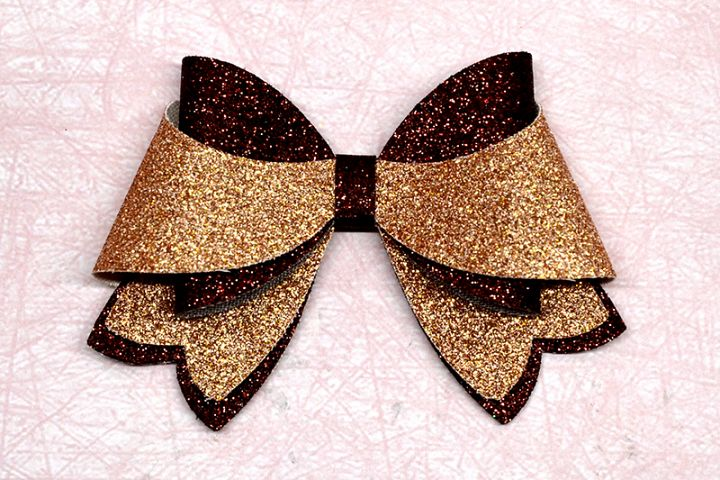 Hair bow template SVG, DIY leather bow template