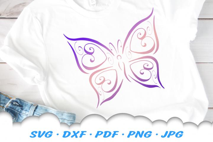Tribal Butterfly Scroll Hearts SVG DXF Cut Files Bundle