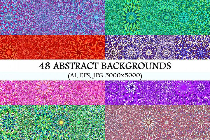 48 Mosaic Burst Backgrounds