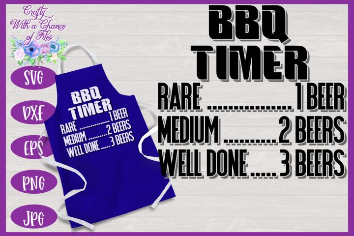 BBQ Timer SVG | Fathers Day BBQ Grill Apron