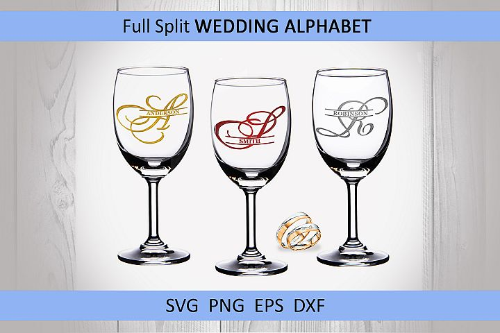 26 Wedding split monogram SVG Engagement svg Wedding font