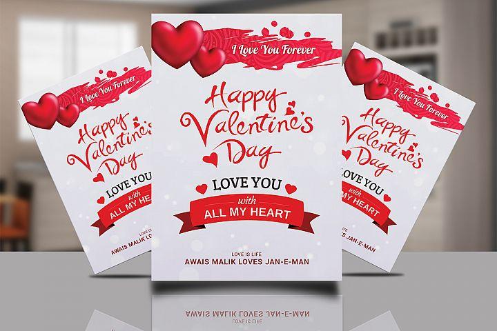 Valentine Day Psd Flyer