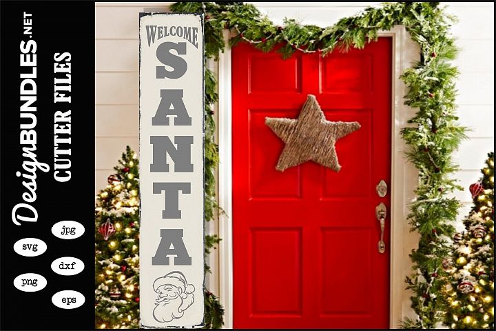 Welcome Santa-Vertical SVG