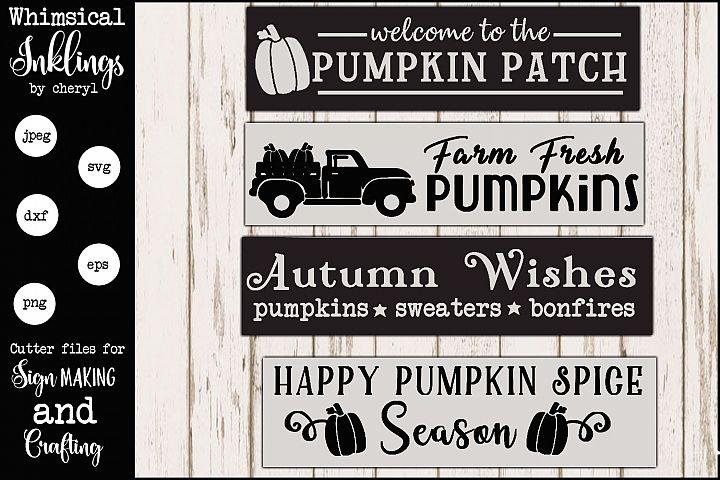 Pumpkin Spice Fall Sign SVG Set