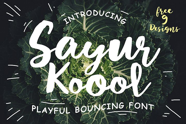 Sayur Koool and Bonus 9 Editable Designs