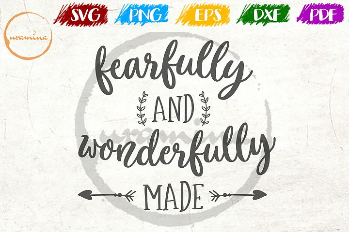Fearfully And Wonderfully Made Kids Room SVG PDF PNG