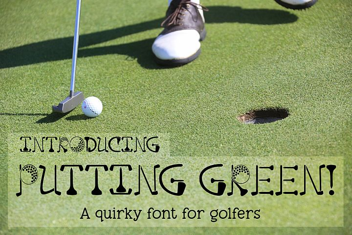 Putting Green - A Quirky Font for Golfers