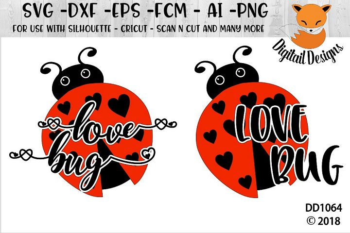 Valentine Love Bug SVG