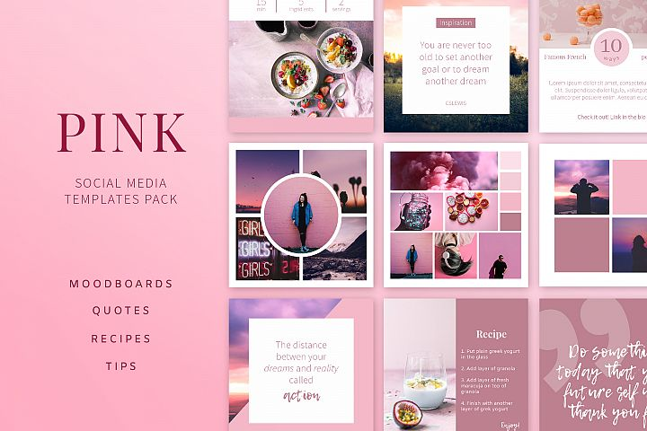 PINK | Social Media Templates Pack