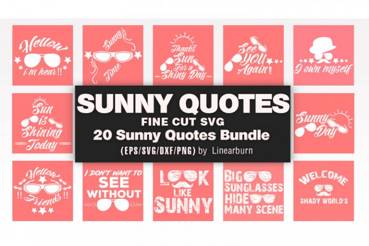 SUNGLASS/SUNNY QUOTES BUNDLES Vol-01