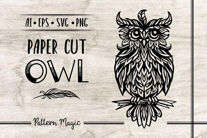 Paper cut owl