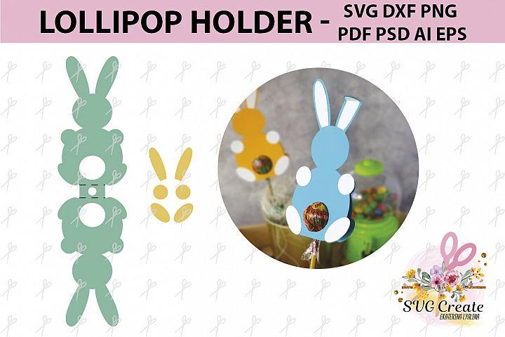 Lollipop holder template, candy holder, easter gift