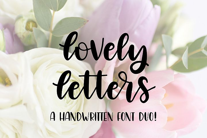 Lovely Letters Handwritten Font Duo, Script Font