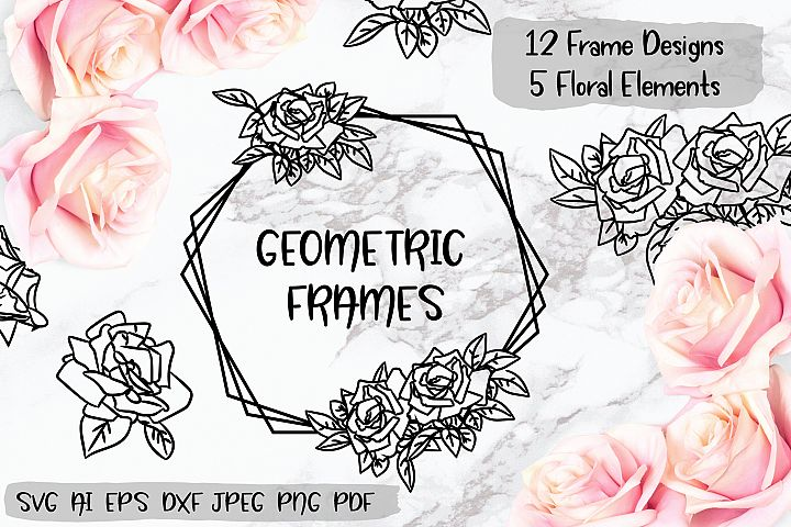 Rose Geometric Frame