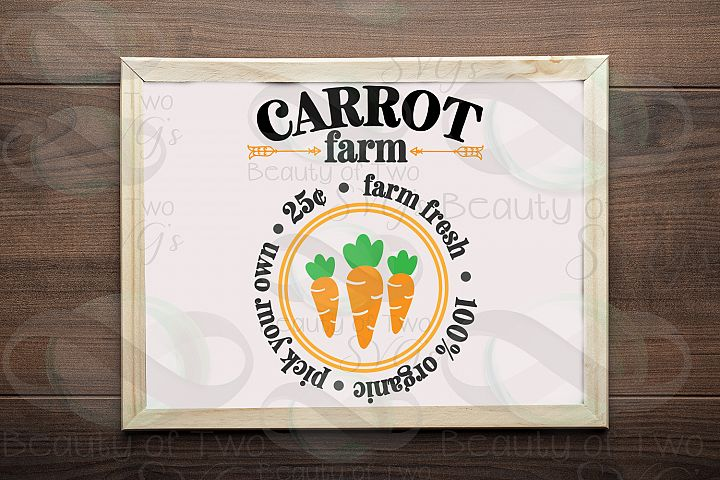 Easter Carrot Farm svg & png, Farmhouse Easter svg