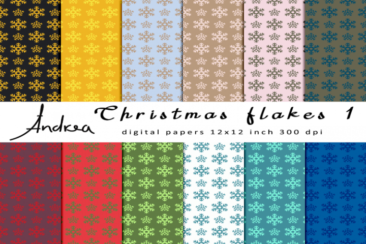 Christmas flakes 1 seamless patterns