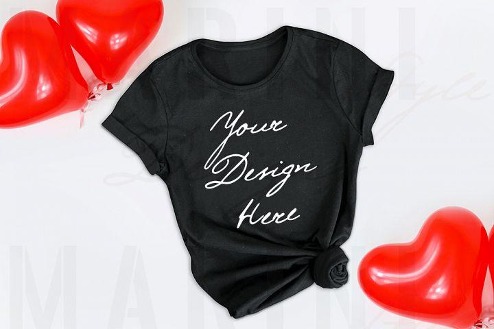 Valentines day t-shirts mockup, Black tshirt mockup, 1125