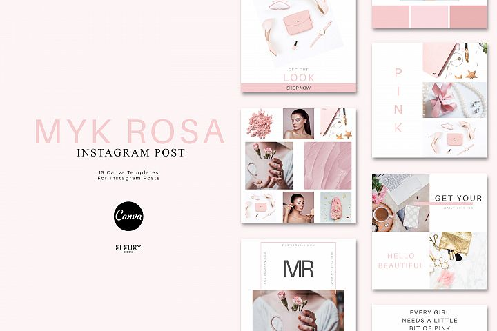 Instagram Posts Canva Template - Myk Rosa