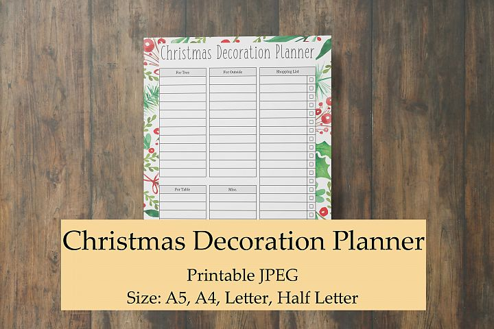 Christmas Decoration Planner