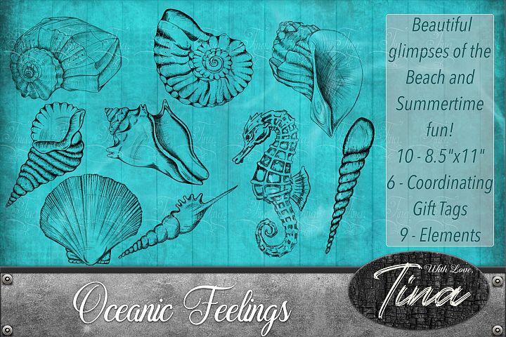 NEW Oceanic Feelings Summer Tropical Shells Seahorse Beach