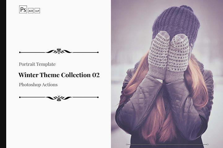 Winter Theme Color Grading Photoshop Actions Collection 02