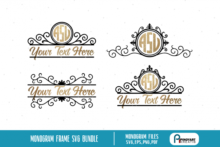 Monogram Frame SVG Bundle, Monogram SVG, Monogram SVG Files