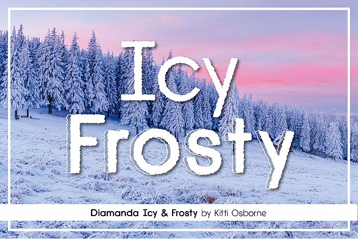 Icy Frosty Diamanda Font Duo