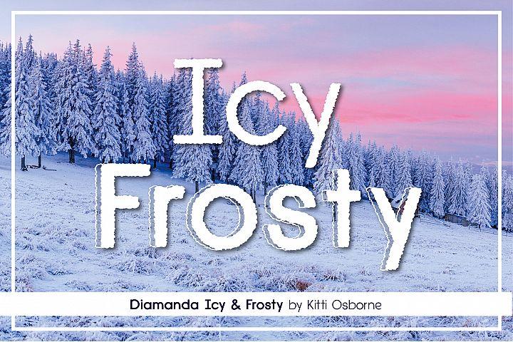 Icy Frosty Diamanda Font Duo