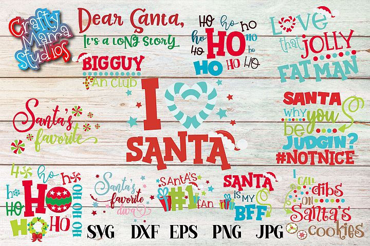 Christmas SVG, Santa Christmas Bundle, Ho Ho Ho Sublimation