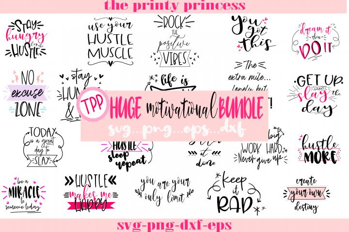 HUGE bundle 20 motivational quote svg, png, eps, dxf