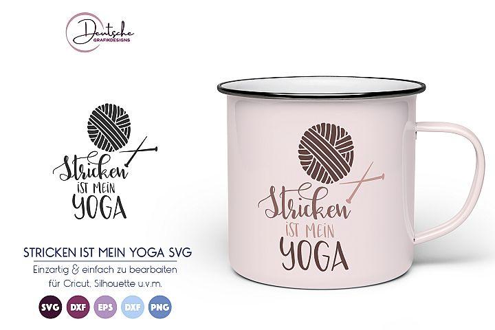 Stricken ist mein Yoga SVG