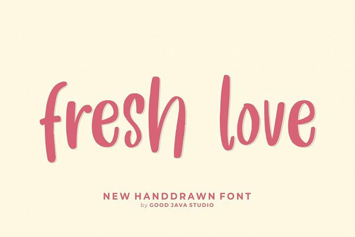 Fresh Love   Handdrawn Font