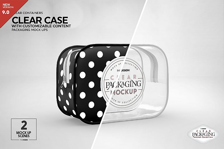 Clear or Opaque Case Packaging Mockup
