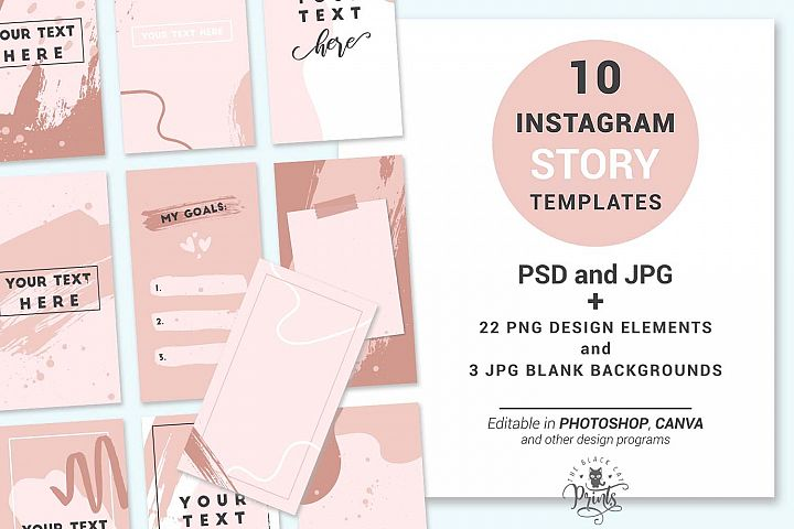 Boho Abstract Instagram Story Templates   Story Stickers