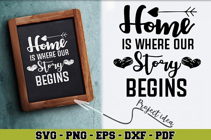 Home SVG n184 | Home is where our story begins