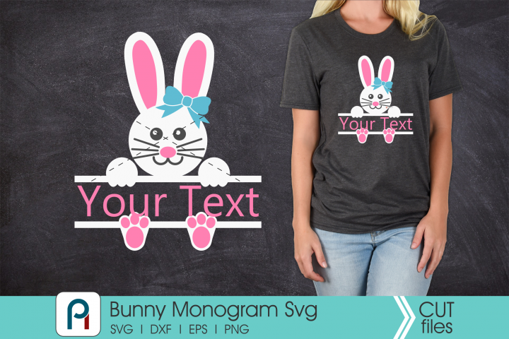 Bunny Monogram Svg - a bunny vector file