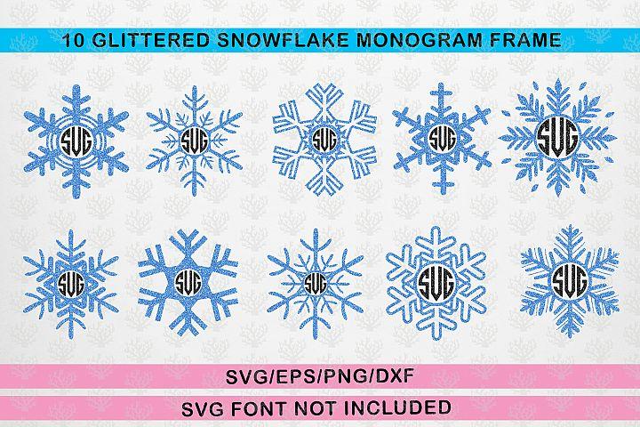 Monogram Frame Bundle - Snowfall Svg Cutting Files