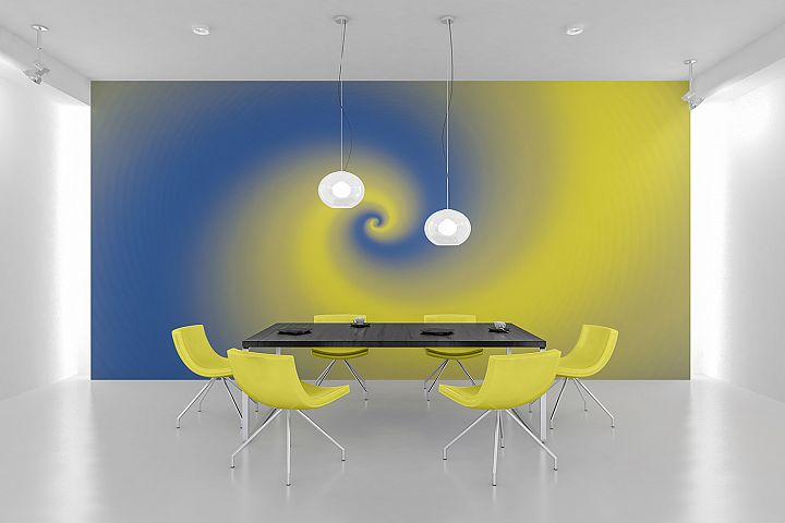 Abstract Yellow & Blue Background Wallpaper
