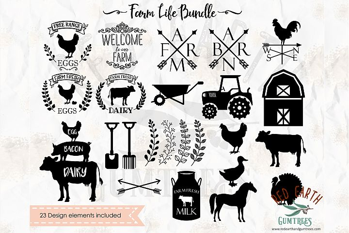 Massive farm life bundle in SVG,DXF,PNG,EPS,PDF formats