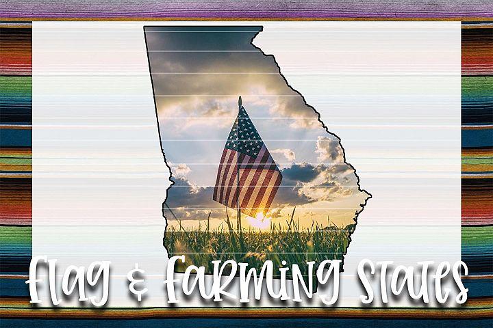 Flag & Farm GA Sublimation Digital Download