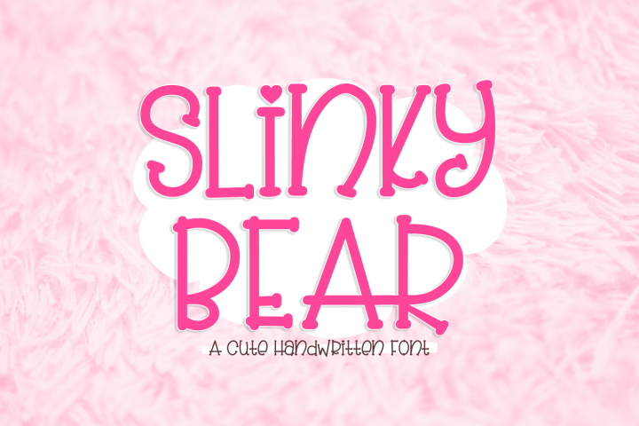 Slinky Bear - a cute handwritten font